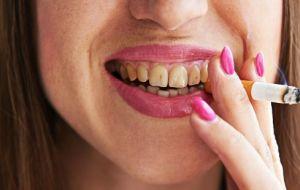 Влияние курения на зубы!