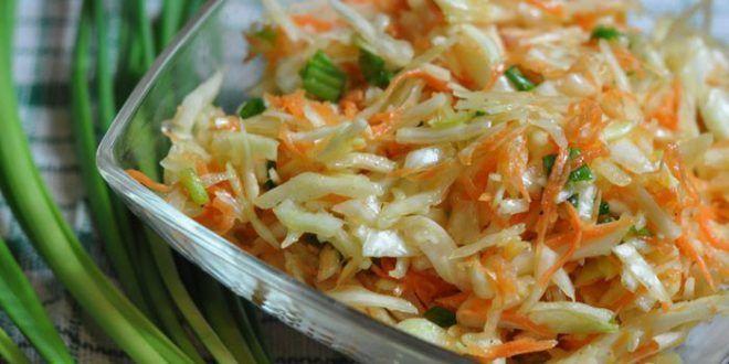 Салаты из свежей капусты с морковкой