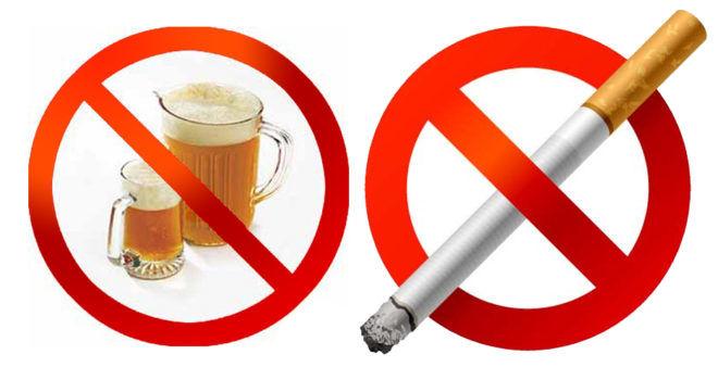 Отказ от вредных привычек нормализует показатель АЛТ в крови