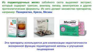 Эти препараты используются для лечения панкреатита