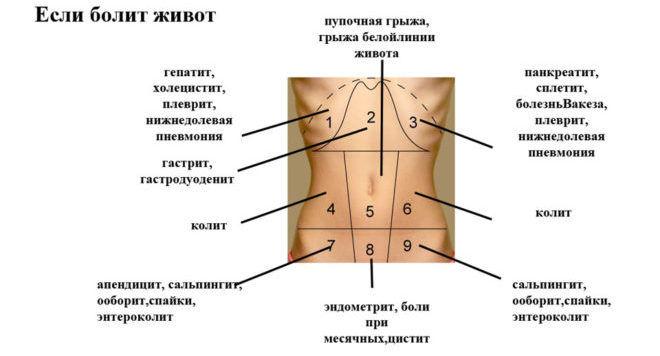 Какие могут причины болей в животе