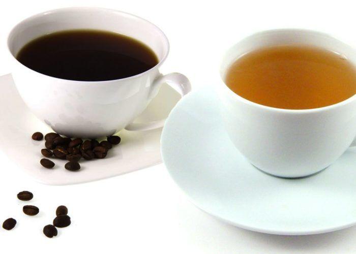 Крепкий чай и кофе