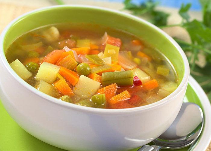 Супы на овощном бульоне