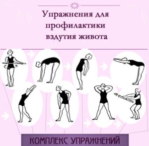 Упражнение при вздутие живота