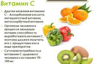 Витамины С укрепляет иммунную систему