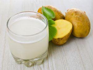 Картофельный сок против горечи во рту