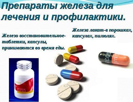 Препаратов железа