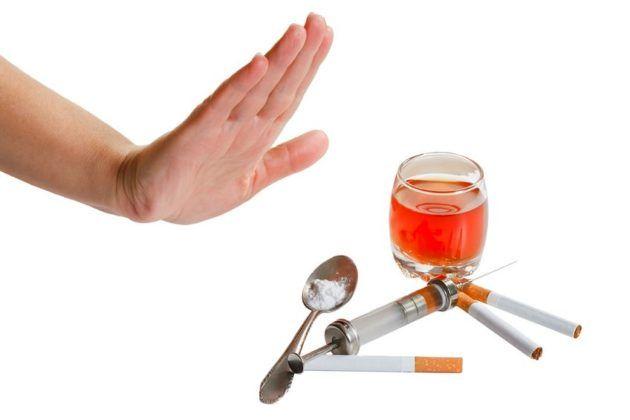 Отказ от алкоголя и никотина для профилактики фиброза