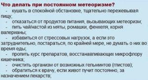 Питание при метеоризме
