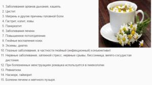 При каких заболеваниях принимают ромашковый чай