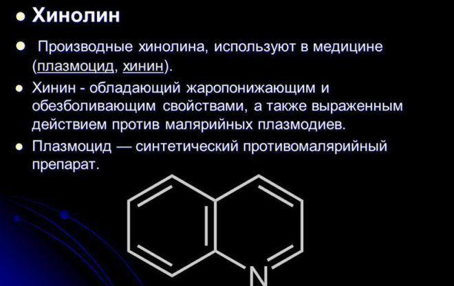 Производные хинолина
