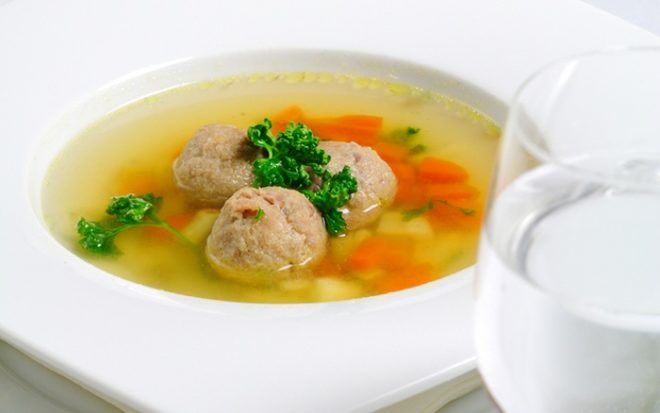 Суп рыбный с фрикадельками