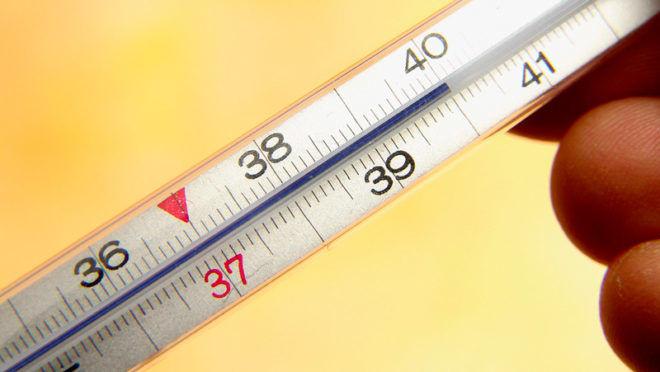 Повышенная температура тела при поражении легких