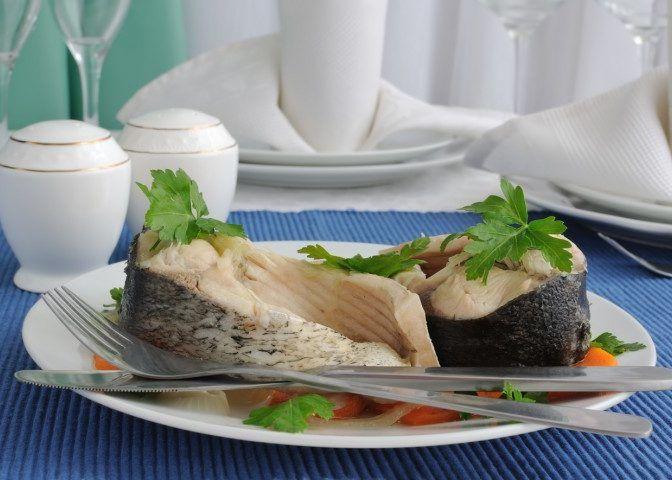 Вареное мясо и рыбу