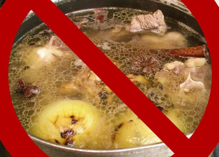 Блюда на основе рыбных и мясных бульонов