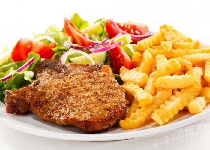 Чрезмерное употребление острой, жареной, жирной, консервированной пищи