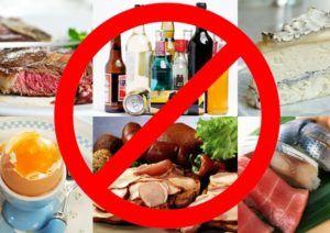 Исключить жареную, жирную пищу и алкоголь