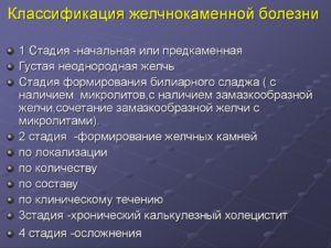 Классификация желчнокаменной болезни