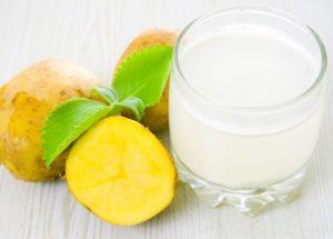 Картофельный сок для лечения изжоги